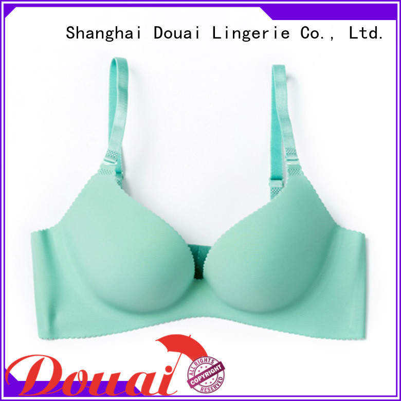 Douai simple seamless push up bra directly sale for madam