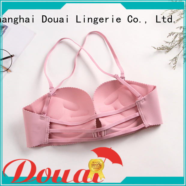 Douai fashionable front closure padded bras design for ladies