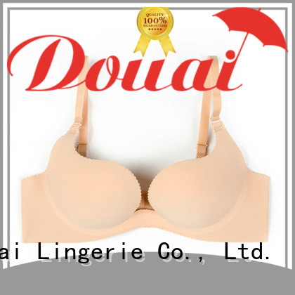 Douai colorful deep u bra customized for party