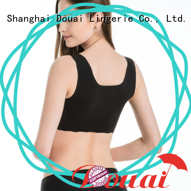 Douai light low impact sports bra factory price for yoga