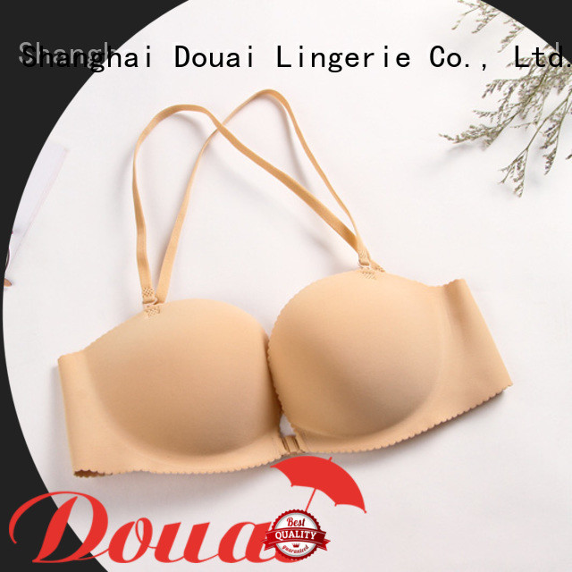 convenient front lock bra design for girl
