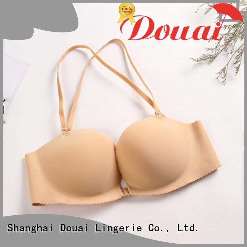 Douai fancy front button bra design for girl