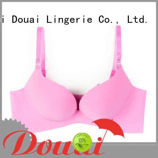 Douai breathable nude push up bra wholesale for madam