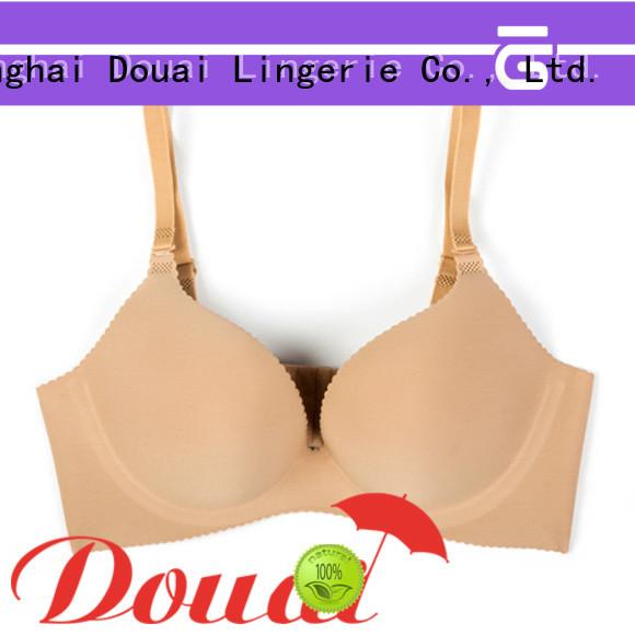 Douai simple cotton seamless bra wholesale for ladies