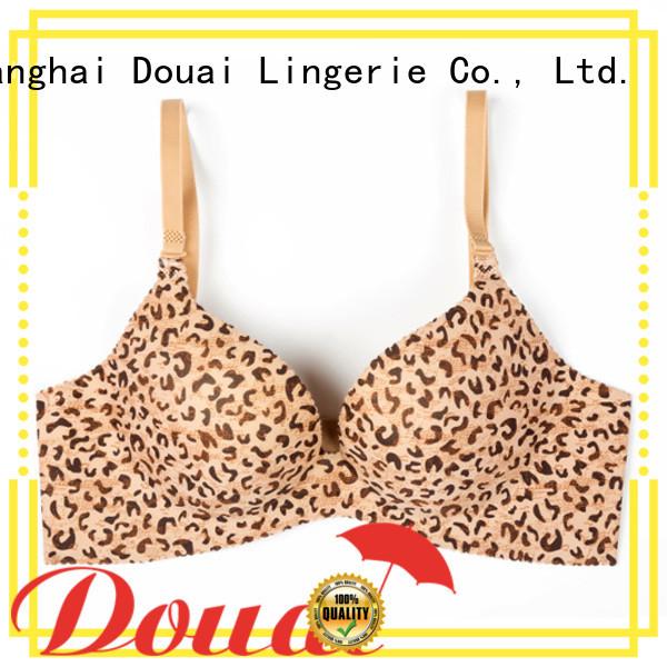 Douai durable black seamless bra design for madam