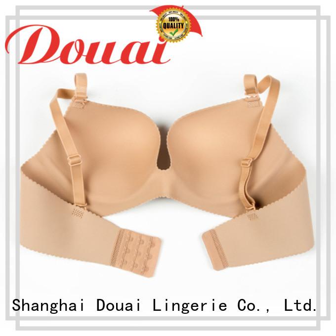 Douai attractive cotton seamless bra design for madam