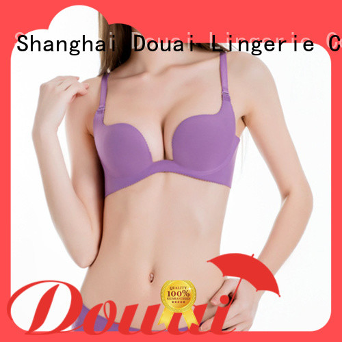 Douai hot selling seamless u plunge bra series for party