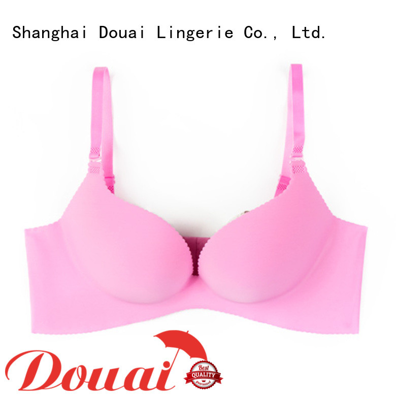 Douai breathable nude push up bra supplier for girl