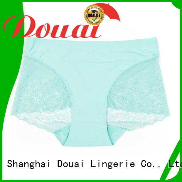 Douai silky pink lace panties supplier for madam