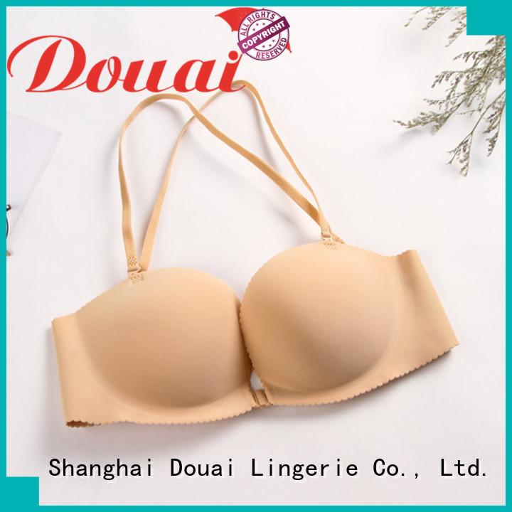 Douai cotton front hook push up bra for women