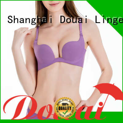 colorful push up u bra from China for beach