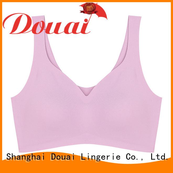 Douai ladies sports bra factory price for sport