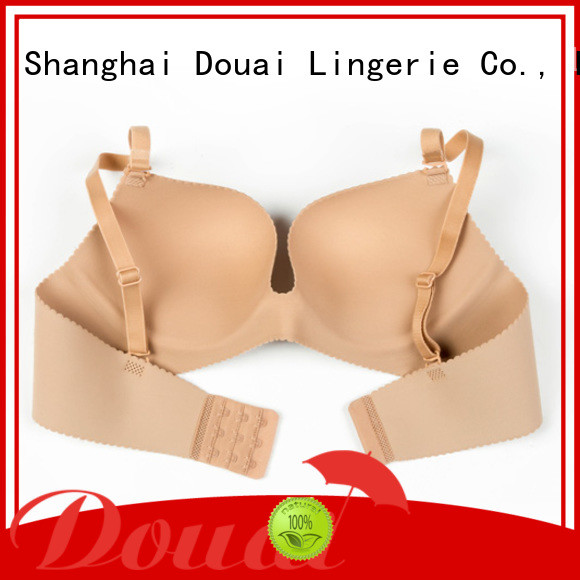 Douai attractive cotton seamless bra directly sale for madam
