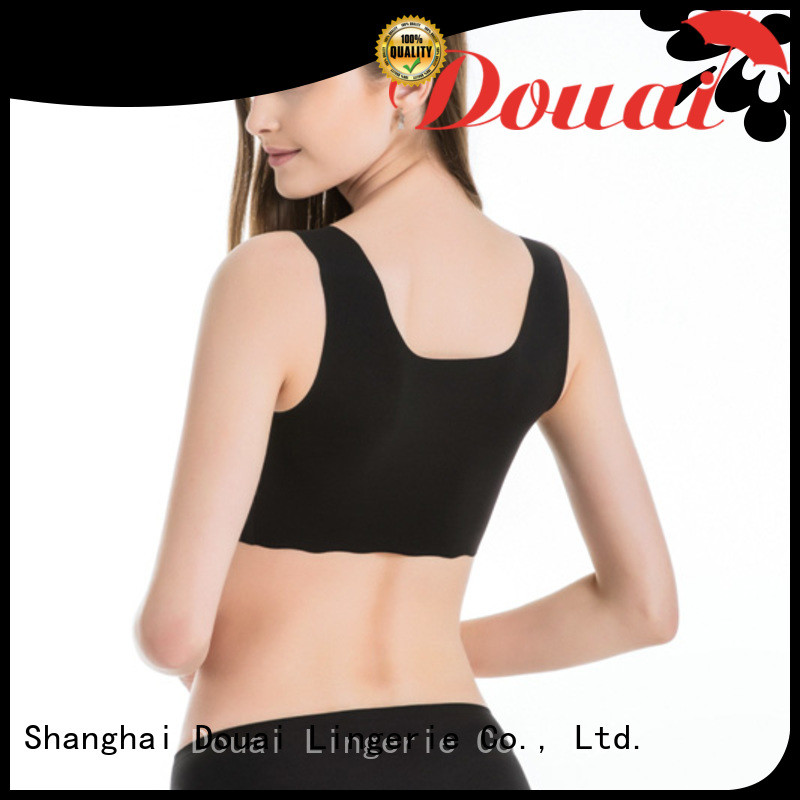 Douai elastic push up sports bra factory price for hiking