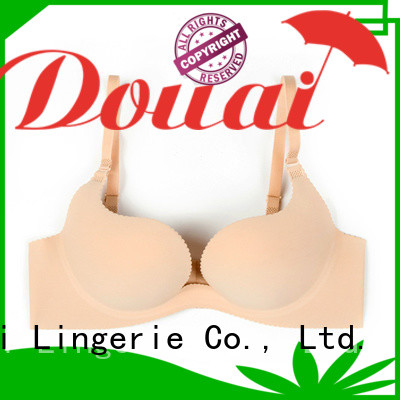 Douai colorful seamless u plunge bra customized for party
