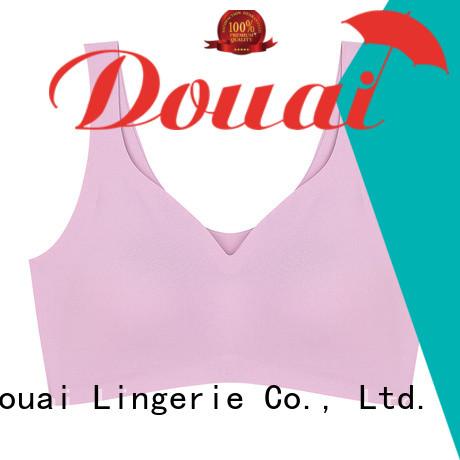 Douai natural yoga bra top factory price for hiking