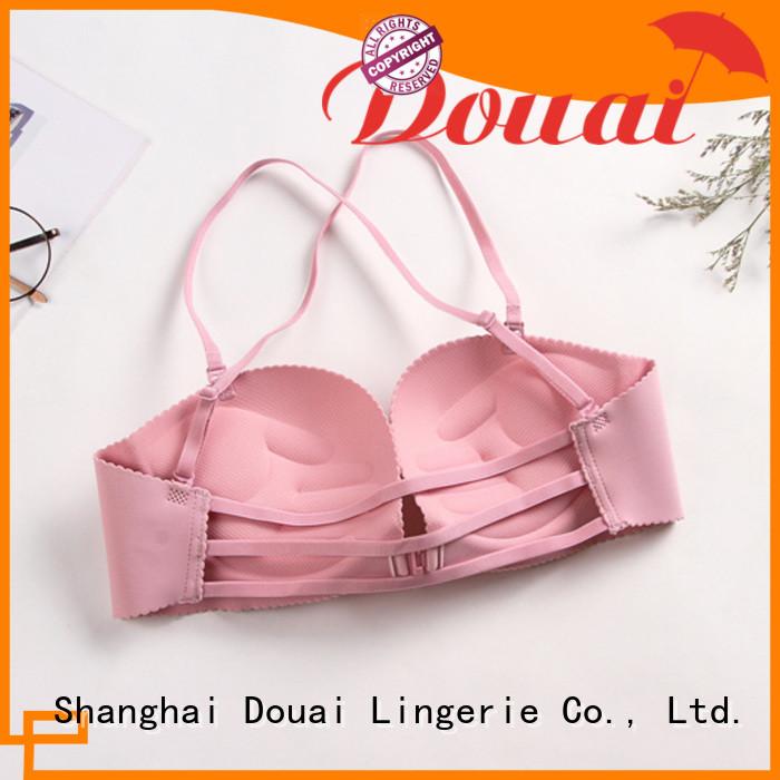 Douai fancy front closure padded bras wholesale for women