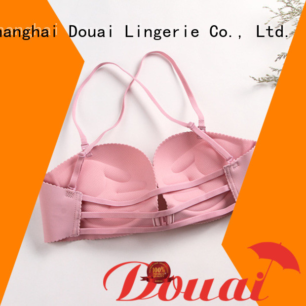 Douai fancy front closure padded bras directly sale for girl
