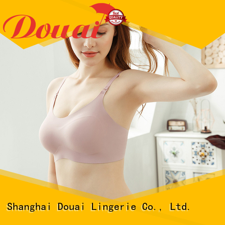 Douai seamless padded bra top factory price for bedroom