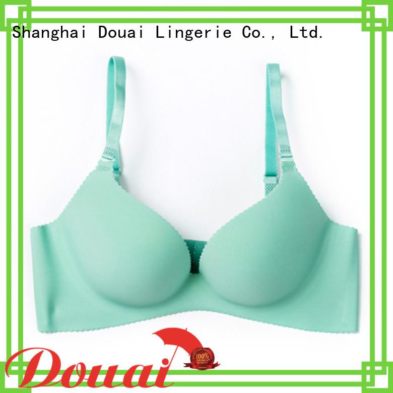 Douai durable cotton seamless bra directly sale for madam