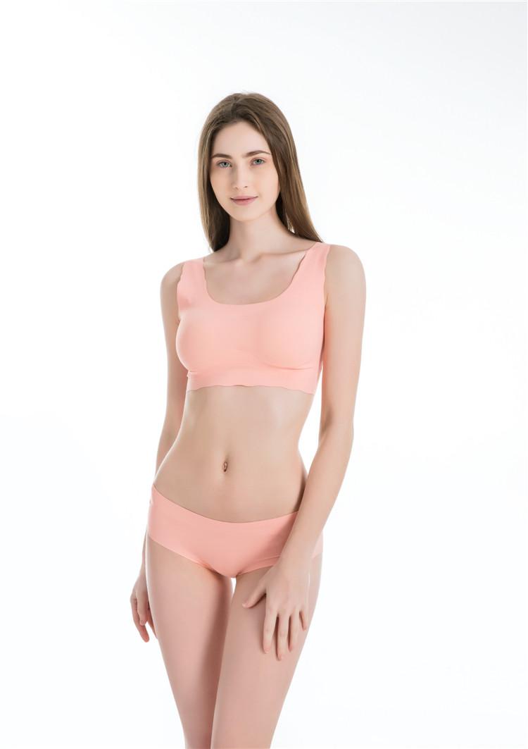 Sport bras for Women padded  bra yoga wire free black seamless bra one piece underwear