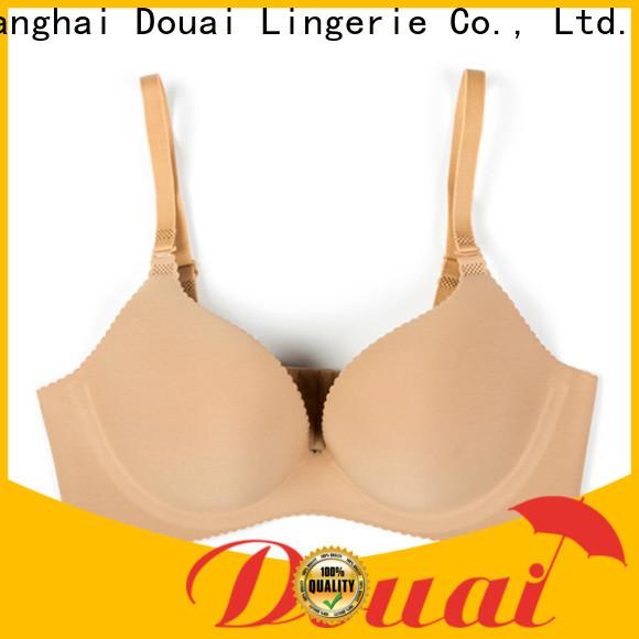 Douai simple seamless padded bra design for madam
