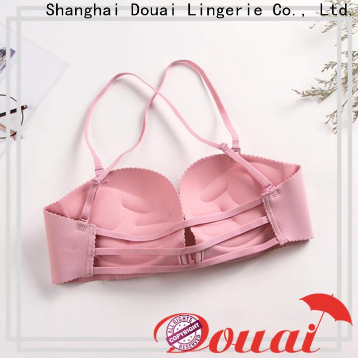 fancy front buckle bra design for women