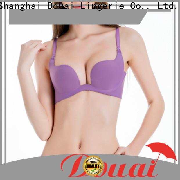 Douai popular deep u plunge bra customized for party