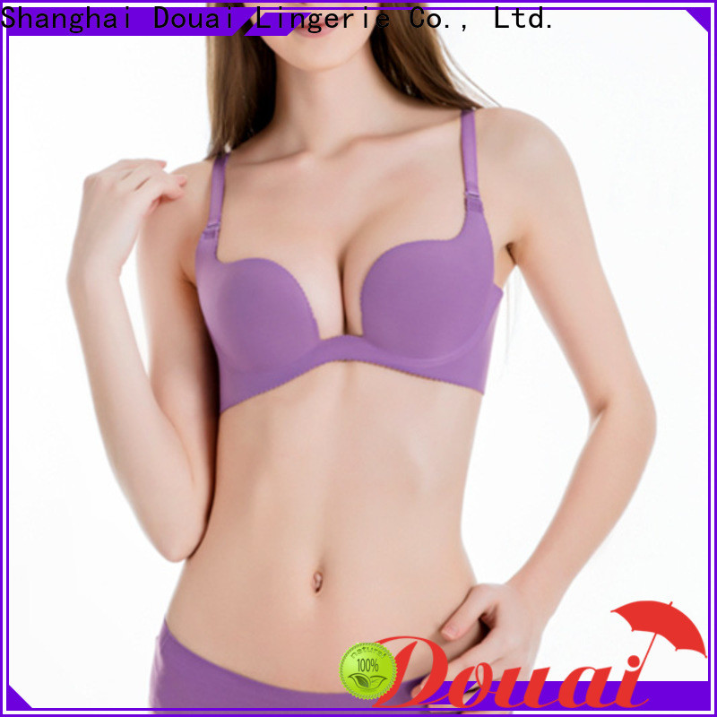 colorful u plunge push up bra customized for beach