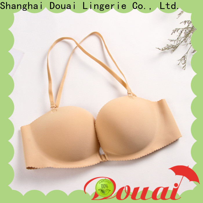 fashionable front closure padded bras directly sale for girl