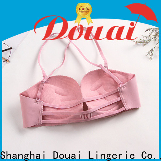 Douai cotton front clip bras wholesale for madam