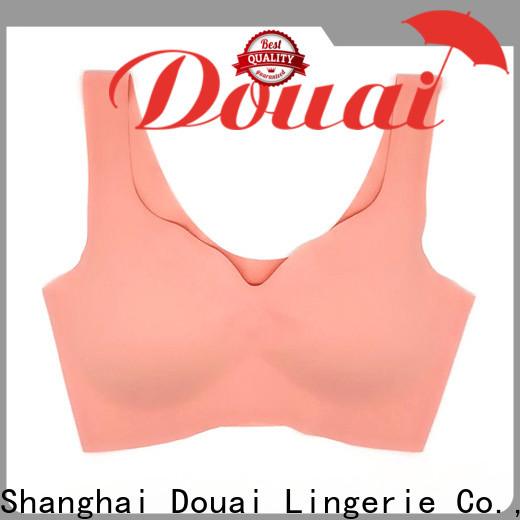 Douai natural hot yoga bra factory price for sport