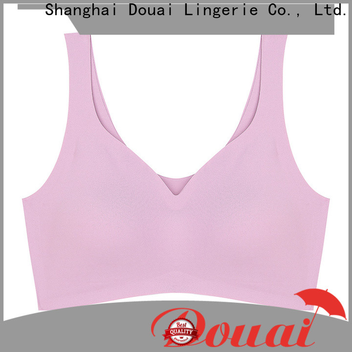 Douai elastic high support sports bra personalized for sking