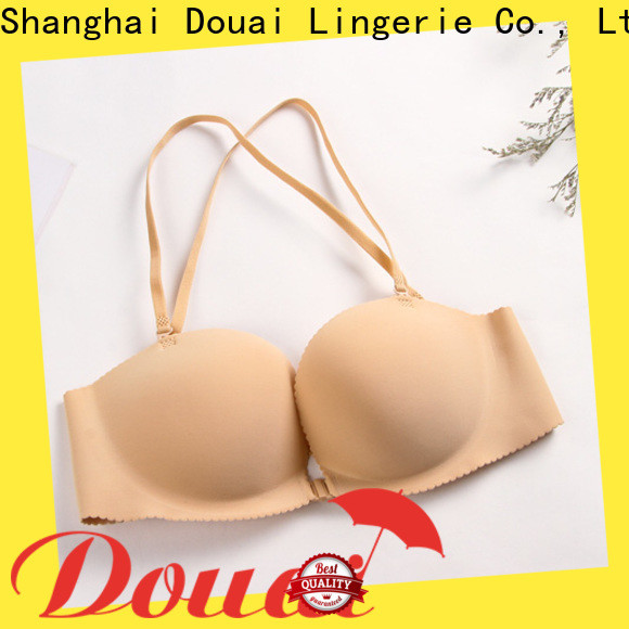 Douai front closure padded bras wholesale for girl