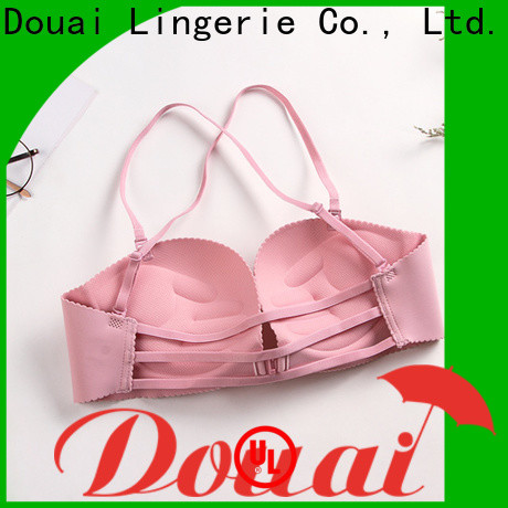 Douai fashionable front closure padded bras supplier for women