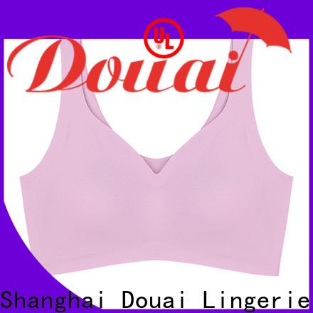Douai elastic yoga bra top wholesale for sking