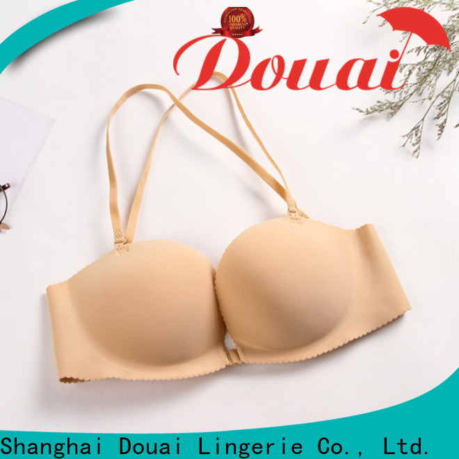 Douai cotton front closure padded bras directly sale for madam