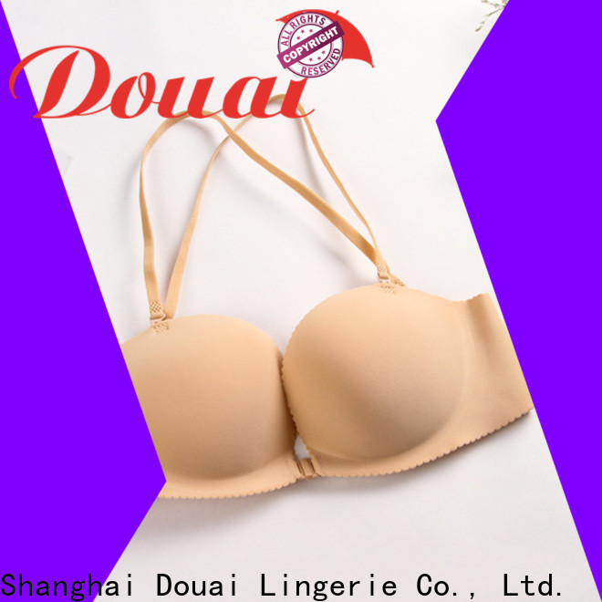 Douai fancy front clasp bralette supplier for girl