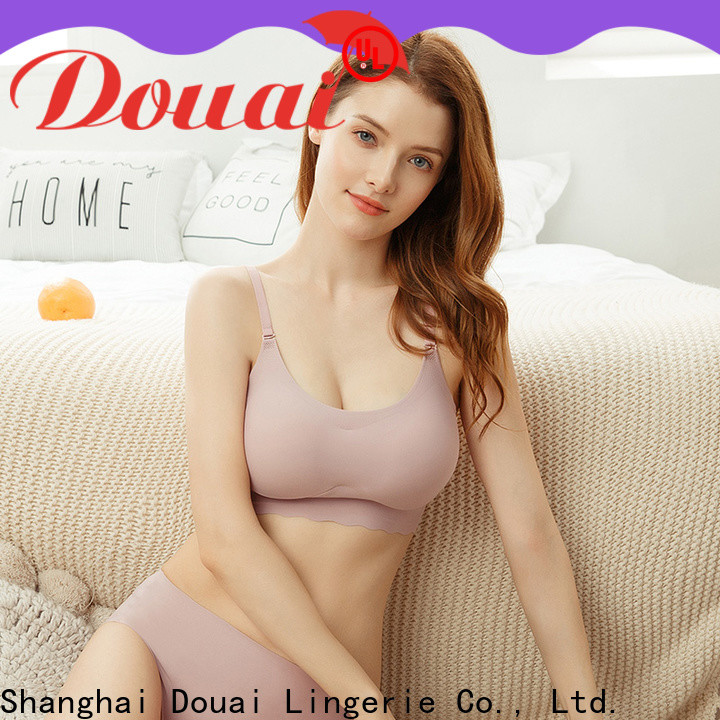 flexible seamless camisole bra supplier for home