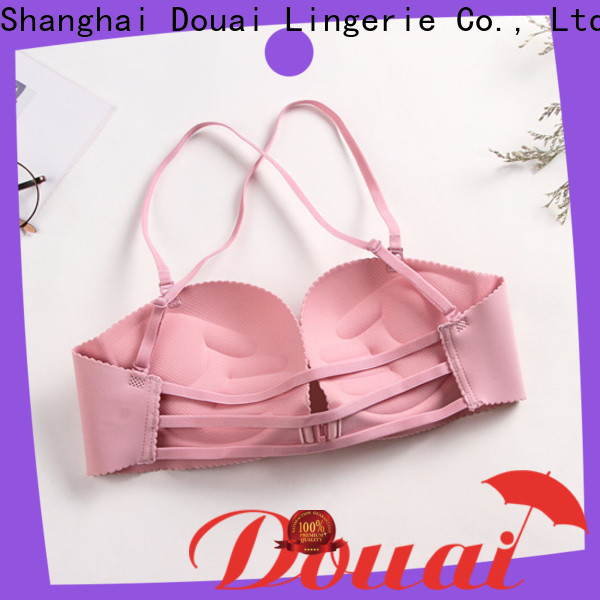 fashionable front closure padded bras wholesale for madam