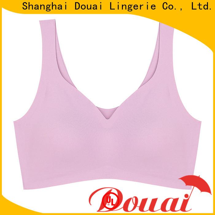 Douai elastic low impact sports bra supplier for sport