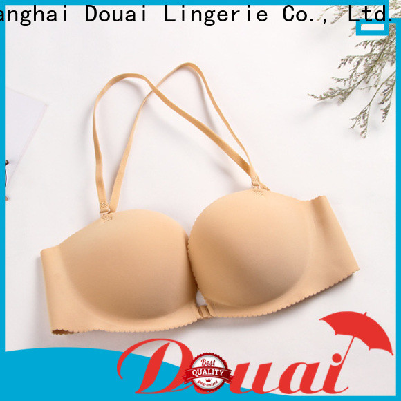 fancy front closure comfort bra design for girl