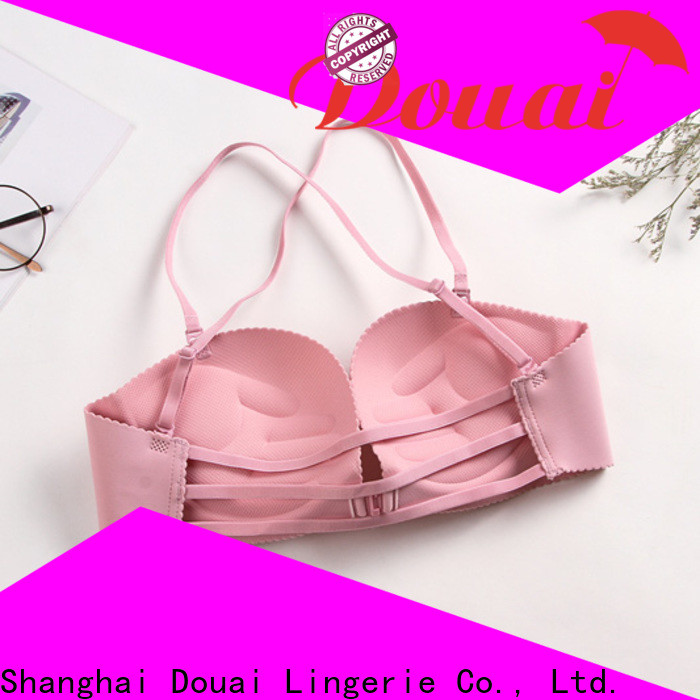 Douai fancy front closure padded bras supplier for girl