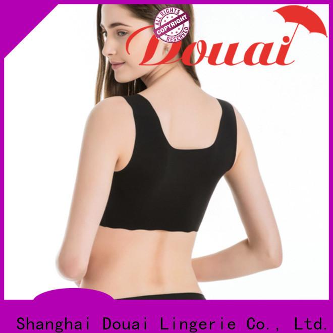 Douai soft push up sports bra factory price for sport
